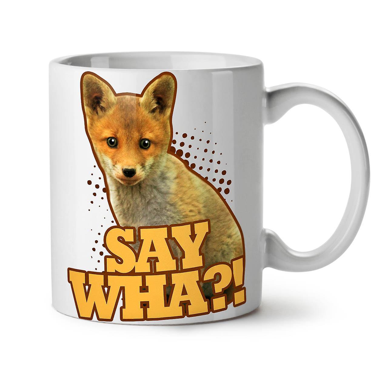 Fox Blague Blanc Tasse Thé OzWellcoda Céramique Café 11 nbsp; Dire Wha Nouveau NPkZXw8n0O