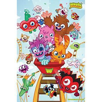 Moshi Monsters - Achterbahn Poster Plakat-Druck