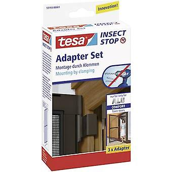 Fly screen adapter kit tesa Adapter Alu Comfort 55193-01 Suitable for Tesa Fly screen (value.1403575) 3 pc(s)