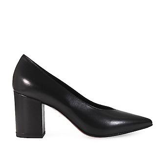 Franco Colli FC1149N ladies black leather pumps