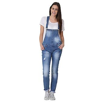 Womens Dungarees - Bib Down Style Bib Overalls Regular Fit
