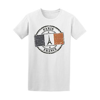 Paris France Square Flag Tee Men's -Image by Shutterstock