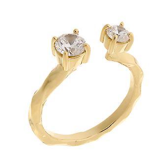 Orphelia Silver 925 Open Ring Gold  Zirconium   ZR-7128/G