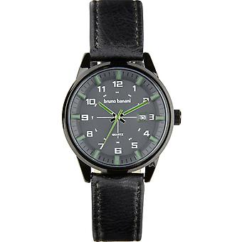 Bruno Banani watch wristwatch ob leather analog BR30009