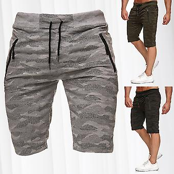 Men's sweat shorts short sweatpants mix fitness pants sports pants stretch waistband
