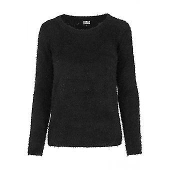 Urban classics ladies sweater nylon feather crew