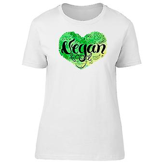 Vegan Heart Green Tee Women's -Image by Shutterstock