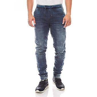 BLEND jeans sweatpants men's urban style blue