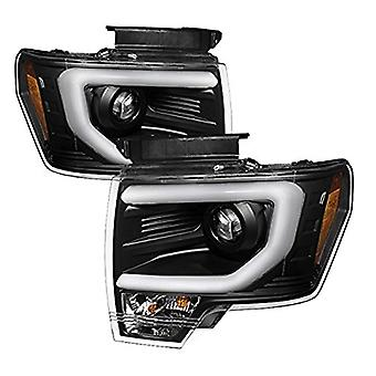 Spyder Auto 5077646 Projector Style Headlights Black/Clear