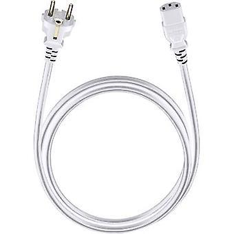 Cable [1x PG plug - 1x IEC C13 socket ] 5 m White Oehlbach