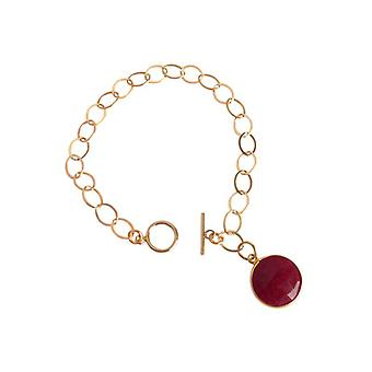 Ruby bracelet bracelets Ruby bracelet gold plated Red