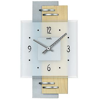 Quartz wall clock wall clock quartz painted wood rear wall aluminium applications