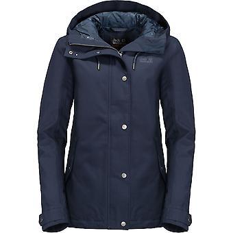 Jack Wolfskin mujeres/damas Mora impermeable al viento chaqueta abrigo