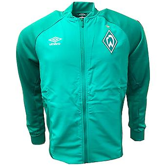 2018-2019 Werder Bremen Umbro Walkout Jacket (Green)