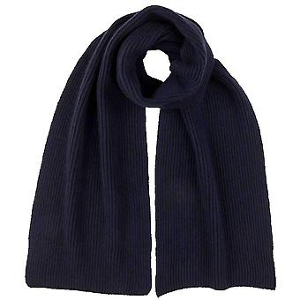 Johnstons of Elgin Full Cardigan Stitch Scarf - Navy