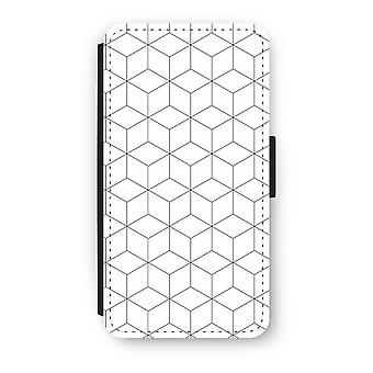 iPhone XS Flip Case - Cubes black and white