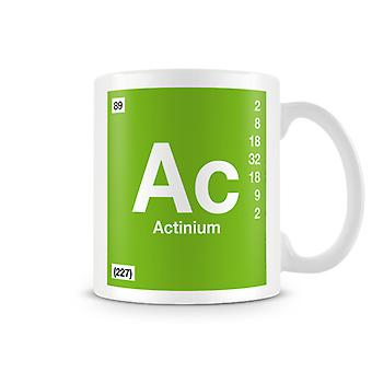 Mug imprimé scientifique, mettant en vedette élément symbole 089 Ac - Actinium