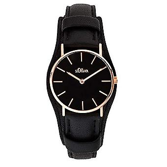 s.Oliver women's watch wristwatch leather SO-3679-LQ