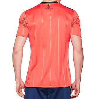 adidas Performance Mens Climacool Short Sleeve UCL Football Referee Jersey - Red