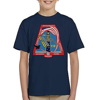 NASA STS 119 Space Shuttle Discovery Mission Patch Kid's T-Shirt