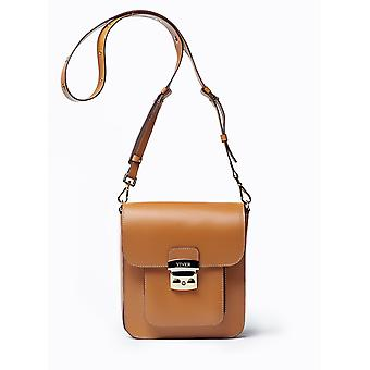 VIVER Serenade Tan Leather Crossbody Bag