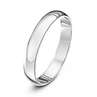 Star anneaux de mariage 18 carats or blanc Extra lourds D 3mm bague de mariage