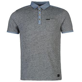 Mires de Firetrap Mens Blackseal Jacquard Polo Shirt coton couture tonale
