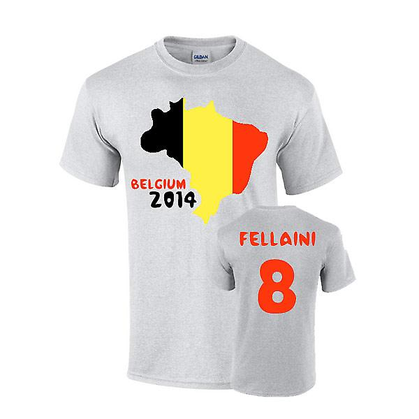 Belgien 2014 Country Flag T-shirt (Fellaini 8)