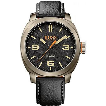 Hugo Boss Orange Cape Town Black Leather Strap Men's Watch