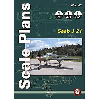 Scale Plans 41 - Saab J 21 - 9788365281890 Book