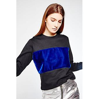 Hit The Road Jacques Sweater With Velvet Panel