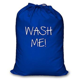 Blue Laundry Bag Wash Me