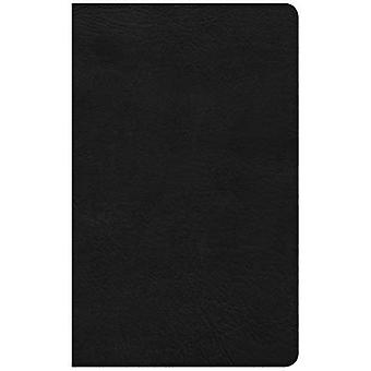 CSB Ultrathin Reference Bible, Black Leathertouch