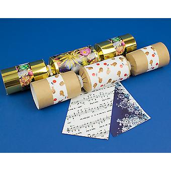 VENTE - 4 assorti de Noël Design Make & remplir votre propre Kit de Craft Cracker