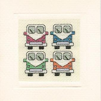Tekstil arv tælles Cross Stitch autocampere kort
