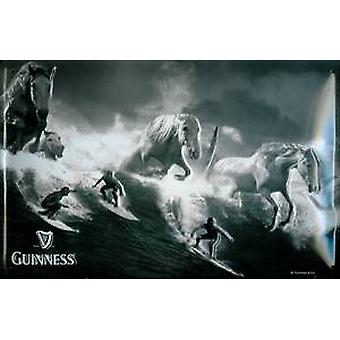 Guinness Surfers and Horses embossed steel sign