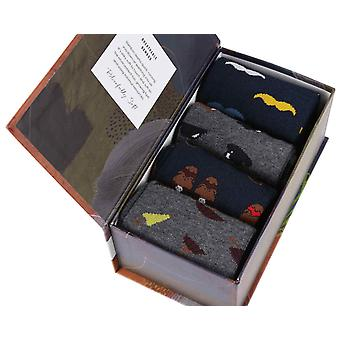 Gentleman Gift Box by Thought | 4 pairs men's soft bamboo crew socks