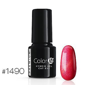 Gel Polish-kleur het Premium-Cat Eye-* 1490 UV gel/LED