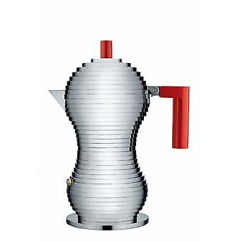 Alessi Pulcina Espresso Coffee Maker - 3 Cup - Red
