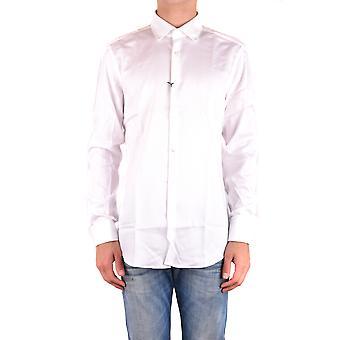Hugo Boss White Cotton Shirt