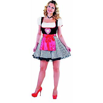 Women costumes  Dirndl black red