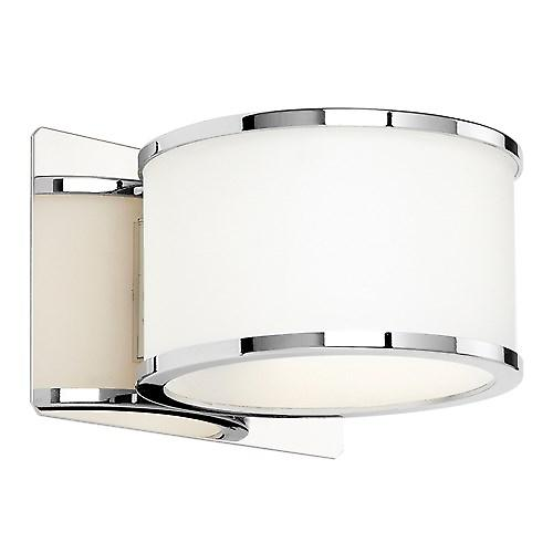 Endon EL-20068 modernt badrum Wall Light - runda vitt glas med krom Trim