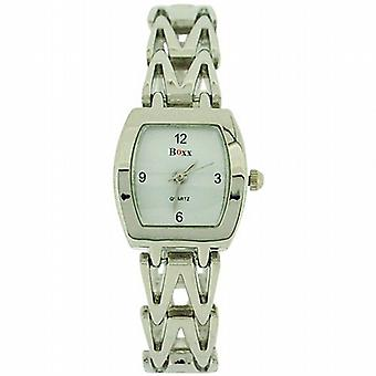 Boxx Silver Tone Bracelet sangle Ladies Dress Watch 4613