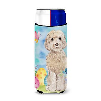 Champagne Cockapoo Easter Michelob Ultra Hugger for slim cans