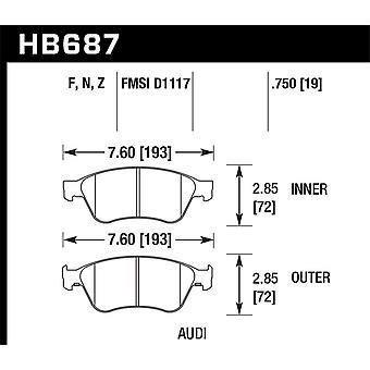 Hawk Performance HB687Z. 750 PC