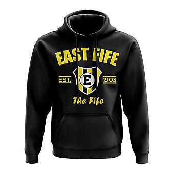 East Fife Established Hoody (Schwarz)