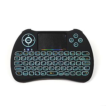 H9 2.4g wireless colorful backlit russian version air mouse mini keyboard touchpad