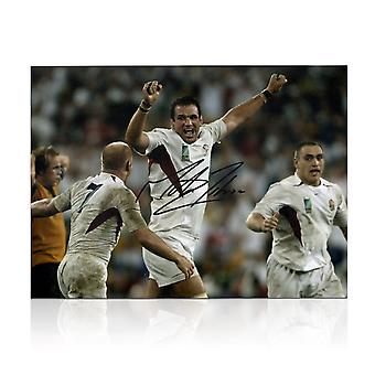 Martin Johnson Signed England Rugby Photo: The Final Whistle
