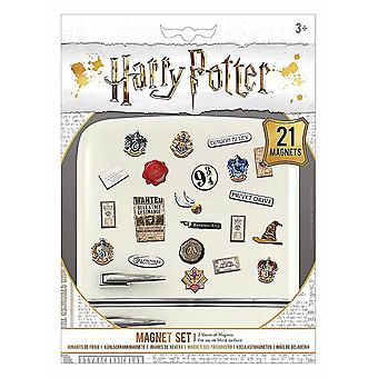 Harry Potter set of 21 mini magnets on backing card (bst)