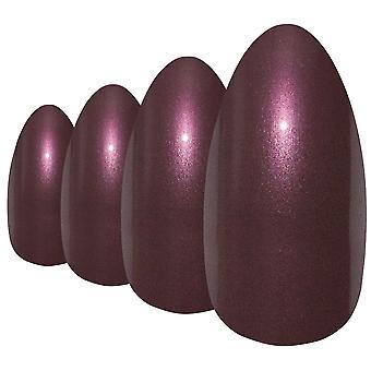 Falsche Nägel von Bling Kunst braun glitter Mandel Stiletto gefälschte lange Acryl-Tipps